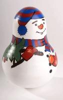 Неваляшка Снеговик