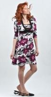 """Платье для кормления """"Флоренция"""": """"Сиреневые цветы"""""""