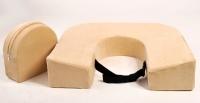 Подушка для кормления двойни «Milk Rivers Twins» плюш цвета экрю
