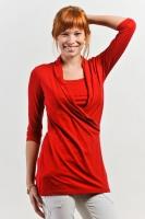 """Блуза для кормления """"Элегия"""" красная"""