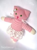 """Вязаная кукла """"Кошка Алиса"""""""