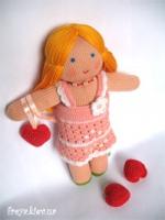 "Авторская вязаная кукла ""Катенька"""