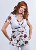 "Блуза для кормления ""Камея"" белая"