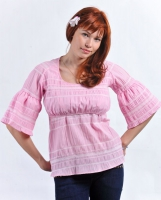 "Блузка для кормления ""Кантри"" розовая"