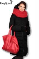 Зимняя слингокуртка Frogqueen Тэпла 3 в 1, черная