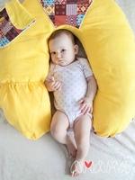 Подушка Слон Радостный жёлтый, Амама