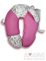 Подушка Слон Радостный розовый, Амама